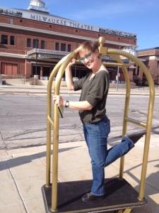 Jill Anna doing her best DPC dancer impersonation.